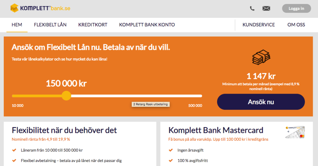 Komplett Bank omdöme