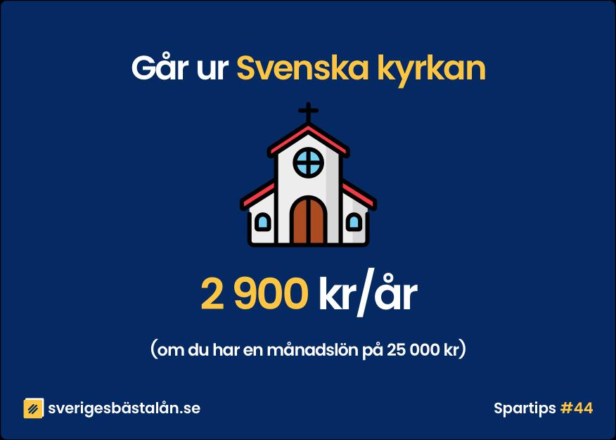 Spara pengar tips gå ur Svenska kyrkan