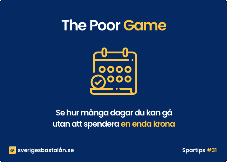 Spara pengar spartips poor game köpstopp