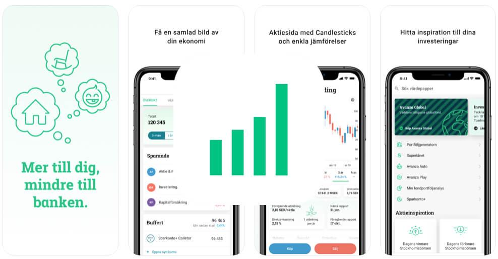 Spara pengar app Avanza