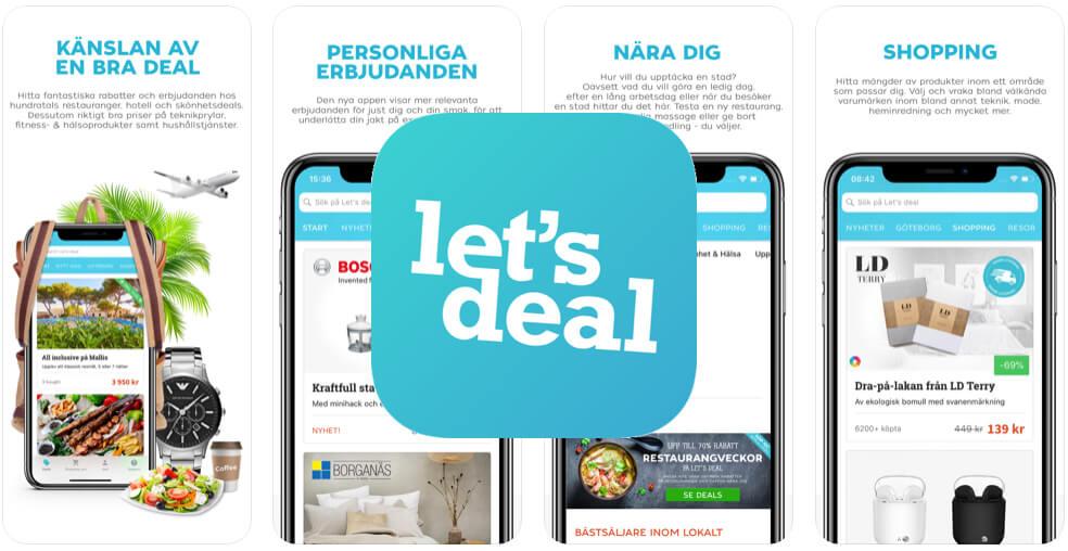 Spara pengar app Let's deal