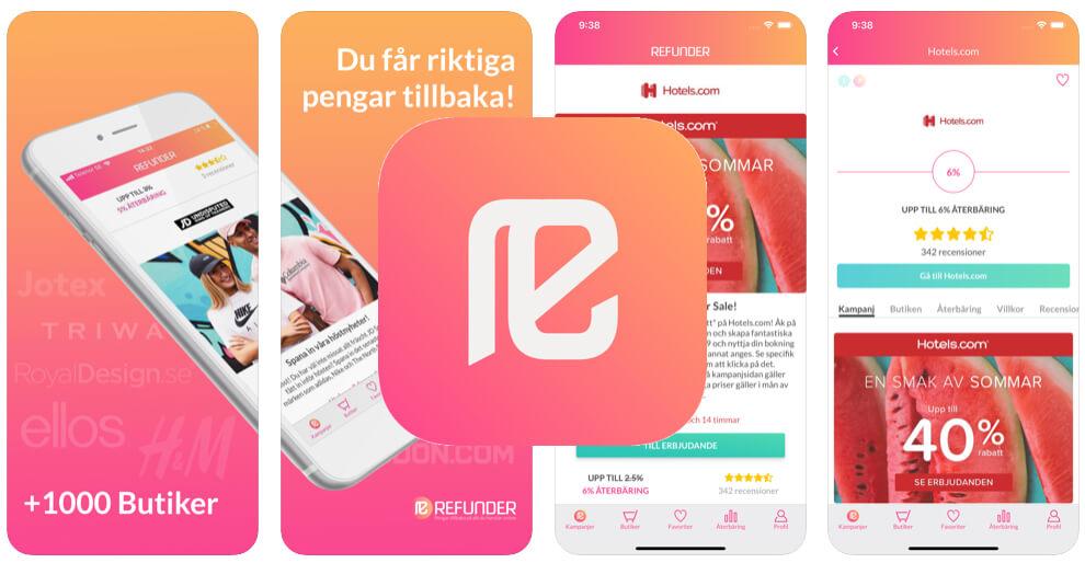 Spara pengar app Refunder