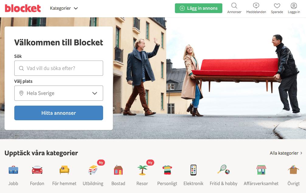 Tjäna pengar sälja saker på Blocket