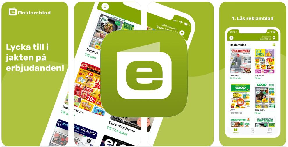 Spara pengar app eReklamblad