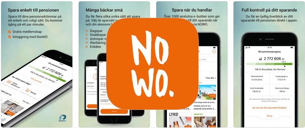 Spara pengar app Nowo