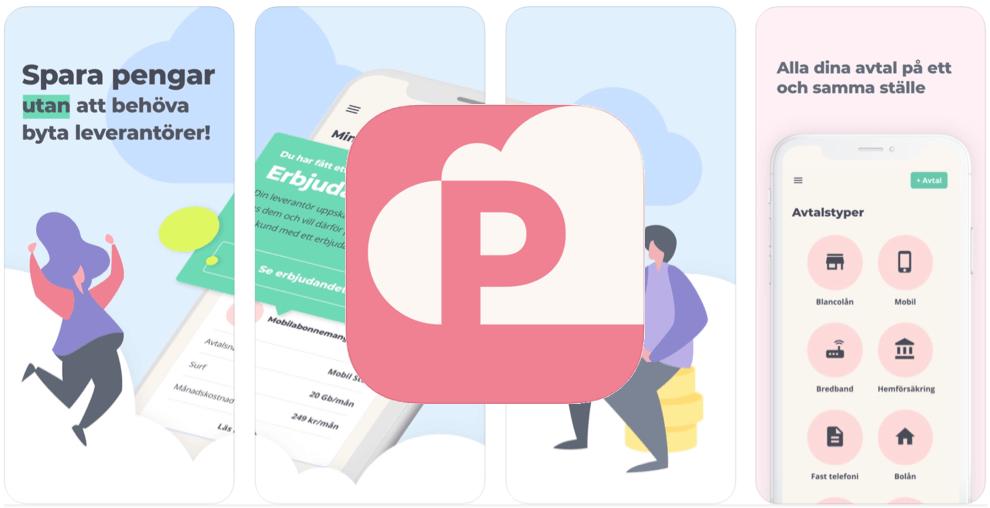 Spara pengar app Påmind