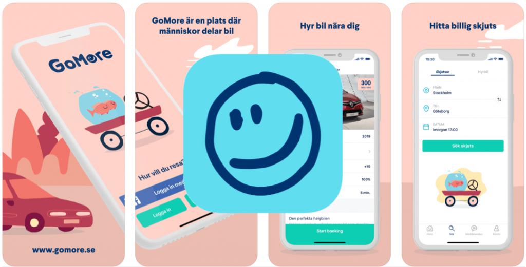 Spara pengar app Gomore