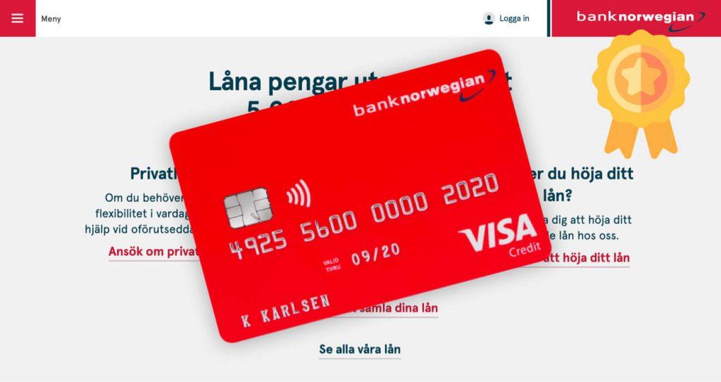 Bästa kreditkortet Norwegian-kortet