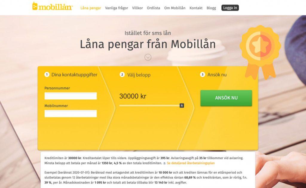 Bästa snabblånet Mobillån