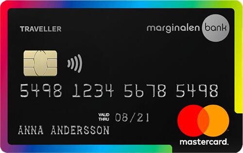 Marginalen bank traveller kreditkort