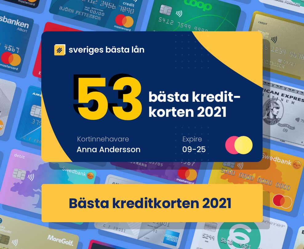Bästa kreditkorten 2021