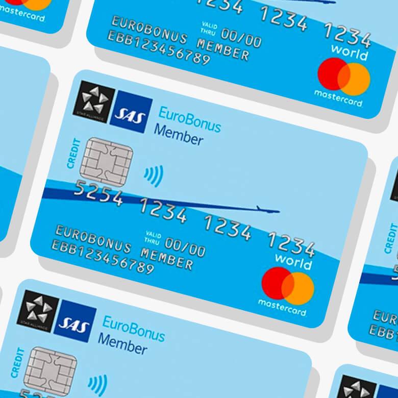 SAS Eurobonus mastercard world kreditkort