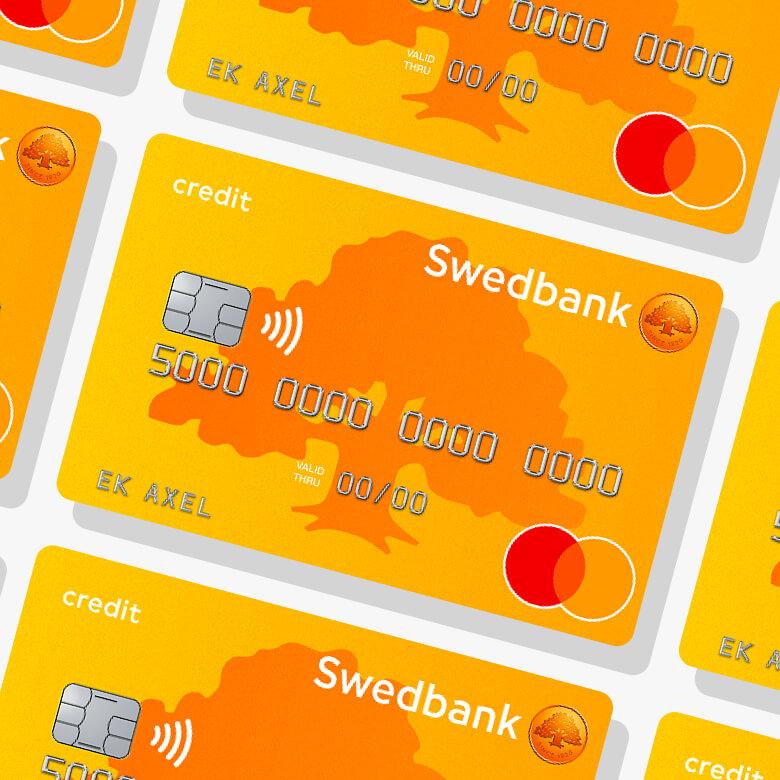 Swedbank betal och kreditkort